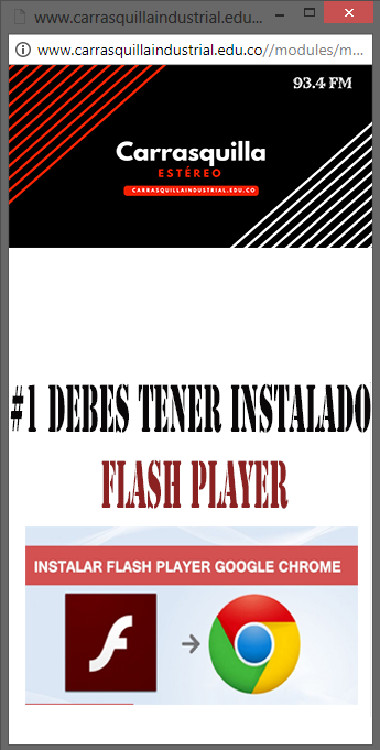 Instala Flash Player.